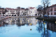 Treviso and Sile river, in Veneto, Italy Stock Image
