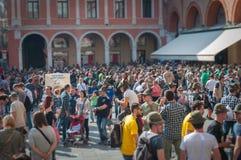 TREVISO WŁOCHY, MAJ, - 13: zgromadzenie narodowe włoskich weteranów wysokogórscy oddziały wojskowi fotografia stock