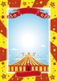trevlig affisch för cirkus Royaltyfria Foton