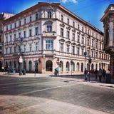 Trevlig arkitektur i Lodz, Polen Arkivbilder