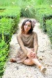Trevlig asiatisk flicka Royaltyfri Fotografi