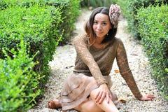 Trevlig asiatisk flicka Arkivfoton