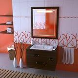 trevlig badrum Arkivfoto