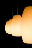 Trevlig belysning, lampor Fotografering för Bildbyråer