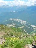 Trevlig bergsikt Fotografering för Bildbyråer