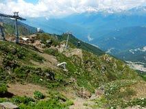 Trevlig bergsikt Arkivbilder