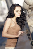 trevlig brunete flicka Royaltyfri Bild
