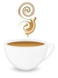trevlig coffeecup Arkivbild