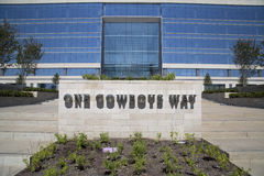 Trevlig cowboyhögkvarterkontorsbyggnad arkivbild