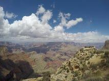 Trevlig dag på Grand Canyon royaltyfri bild