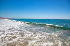 Trevlig dag på Huntington Beach royaltyfria foton