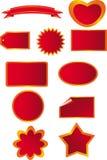 trevlig etikettsvektor royaltyfri illustrationer