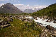 Trevlig flod för rafting! Fotografering för Bildbyråer