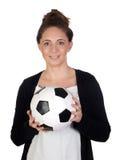 trevlig fotboll för bollkalle Arkivbild