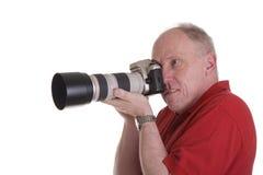 trevlig fotograf för lins Arkivfoto
