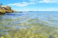 Trevlig fridfull havssikt Fotografering för Bildbyråer