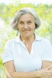 Trevlig gammal kvinna Arkivbild