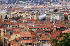 Trevlig gammal stad, franska Riviera, Frankrike Arkivfoton