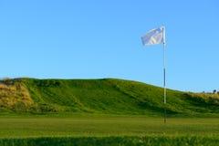 Trevlig golfbana Fotografering för Bildbyråer