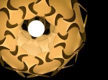 Trevlig hängande runda formad dekorativ ljuskrona Arkivfoton