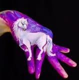Trevlig hästbild. Royaltyfri Foto