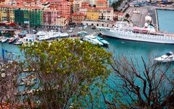 Trevlig hamn, Frankrike Arkivfoto