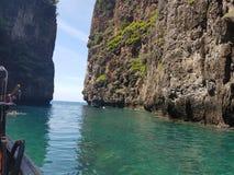 Trevlig havsväg Arkivfoto