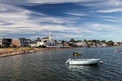 Trevlig himmel i Provincetown, Cape Cod, Massachusetts, USA Arkivfoto