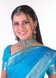 trevlig indisk jewelery för flicka royaltyfri fotografi