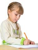 Trevlig liten flicka som leker med Royaltyfria Bilder