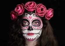 Trevlig makeup för halloween Arkivbild