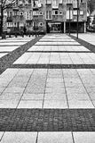 Trevlig modern sikt av den Nowy Targ fyrkanten i Wroclaw den gamla staden Arkivfoton