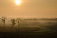 Trevlig morgon för en cykelritt Fotografering för Bildbyråer