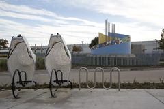 Trevlig norr Carrollton Frankford stationsTexas sikt Royaltyfri Bild