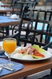 Trevlig och sund frukost Arkivfoto