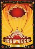 trevlig orange affisch för svart cirkus vektor illustrationer