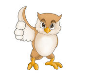trevlig owl royaltyfri illustrationer