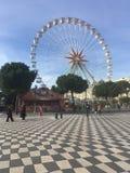 Trevlig pariserhjul i Nice royaltyfria bilder