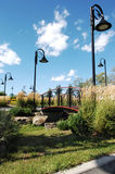 trevlig park för stad Arkivbilder