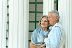 trevlig pensionär för par arkivfoto