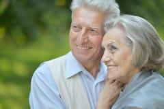 trevlig pensionär för par royaltyfri foto