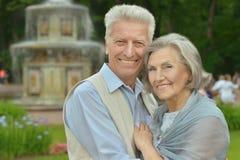 trevlig pensionär för par royaltyfri fotografi
