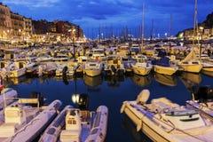 Trevlig port i Frankrike Royaltyfria Bilder