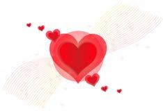 Trevlig röd hjärta för valentindag Royaltyfri Foto