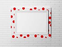 Trevlig ram på väggen, Royaltyfria Foton