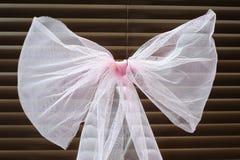 Trevlig rosa färgpilbåge Arkivfoto