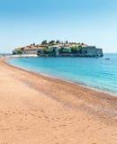 Trevlig sandig strand Royaltyfri Bild
