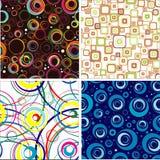 trevlig seamless setwallpaper royaltyfri illustrationer