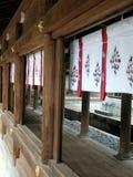 Trevlig sikt av några arkitektoniska detaljer i Japan royaltyfri fotografi