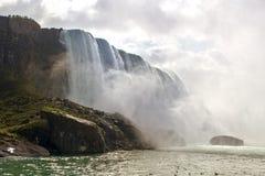 Trevlig sikt av Niagara Falls Arkivbilder